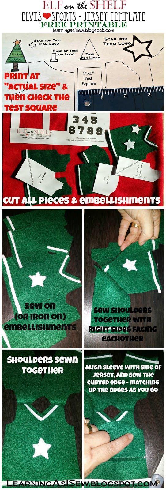Elf on the Shelf: Free Sports Jersey Printable