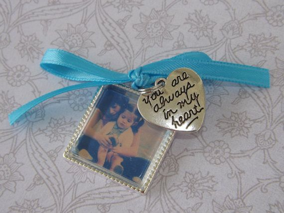 Something Blue Wedding Bouquet Photo Charm by JirehCraftyCreations