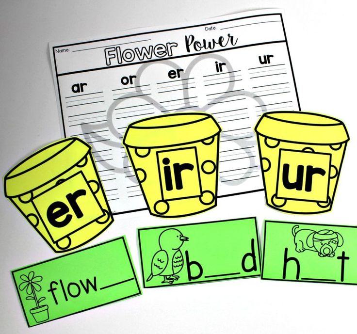 march literacy for kindergarten, first grade, second grade, er, ir, ur, phonics for first grade