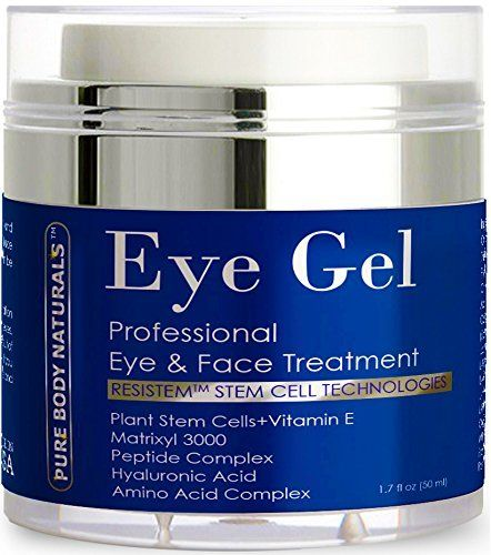 Pure Body Naturals Eye Cream for Dark Circles Puffiness Wrinkles and Bags - The Most Effective Anti Aging Eye Gel for Under and Around Eyes - 1.7 fl oz