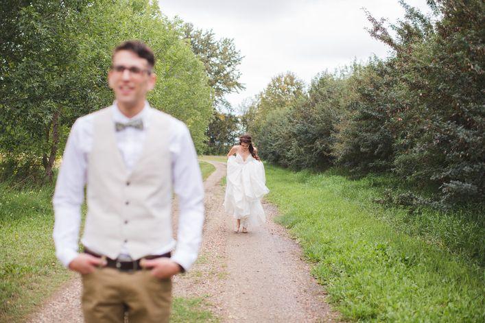 Christine   Adam: Fancy Farm Wedding. First Look