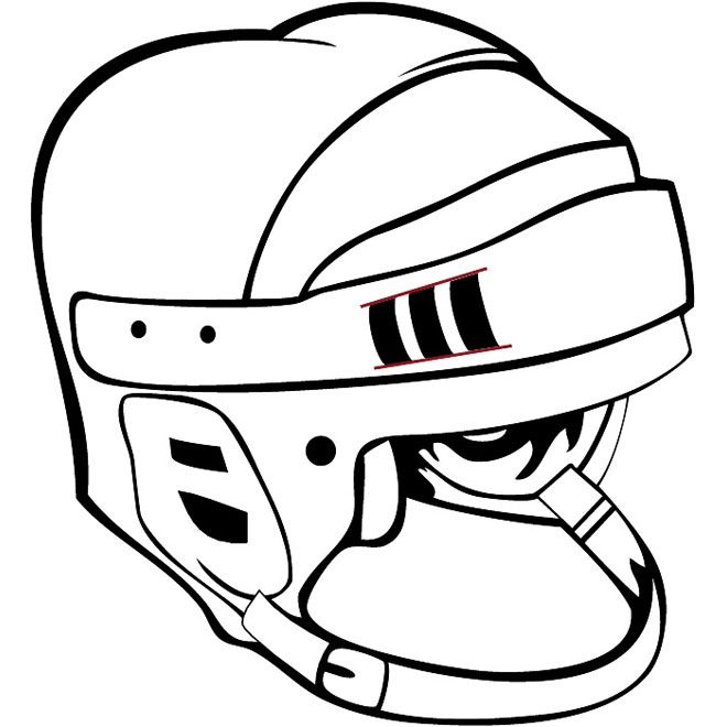 Nhl Helmet Vector Image Hockey Gloves Helmet Protection Gear