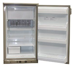 Dometic 2510 Refrigerator 5 Cubic Ft Compact  RM2510 Dometic refrigerators are sized to fit standard cabinet openings at an affordable price. Features include easy-access manual controls. Automatic gas relight system is standard on the RM2510 Dometic refrigerator. Rugged and dependable as well as great looking.  2-way power- AC/LP gas  Note: Not equipped with an interior light.  This Dometic refrigerator comes as a right hand hinge, which opens to the left. Refer to the owner's manual for…