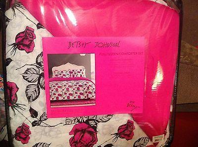 Betsey Johnson 3pc Comforter Set Shadow Rose Full Queen
