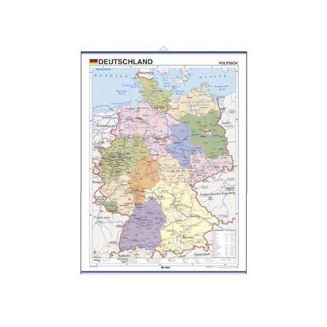 Deutschland, Politisch  Editados en un formato aproximado de 37,5 x 50 cms.