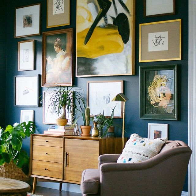 """We love @dabito's big new wall of art!  Click the link in our profile to see how YOU can create a gallery wall of art in 5 easy steps, today on our…"""