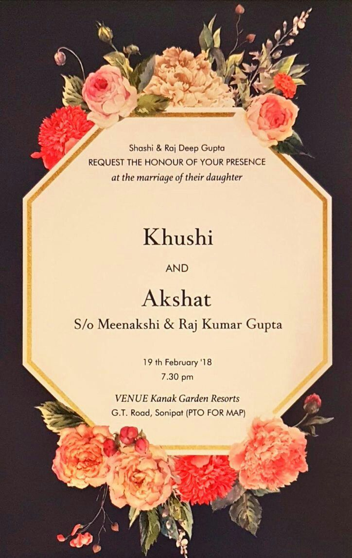 The enchanting Floral Wedding Cards#2018 | Indian Wedding Invitation Ca… in  2020 | Marriage invitation card, Indian wedding invitation cards, Wedding  invitation card design