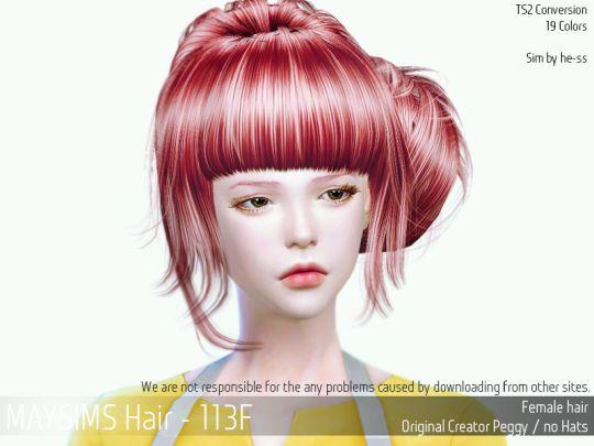 Mayims: 심즈4 헤어 - May_TS4_Hair 113F