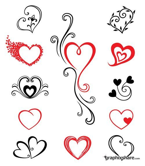 Vector Stock Tattoo Hearts Graphixshare