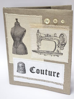 Cahier couture lin