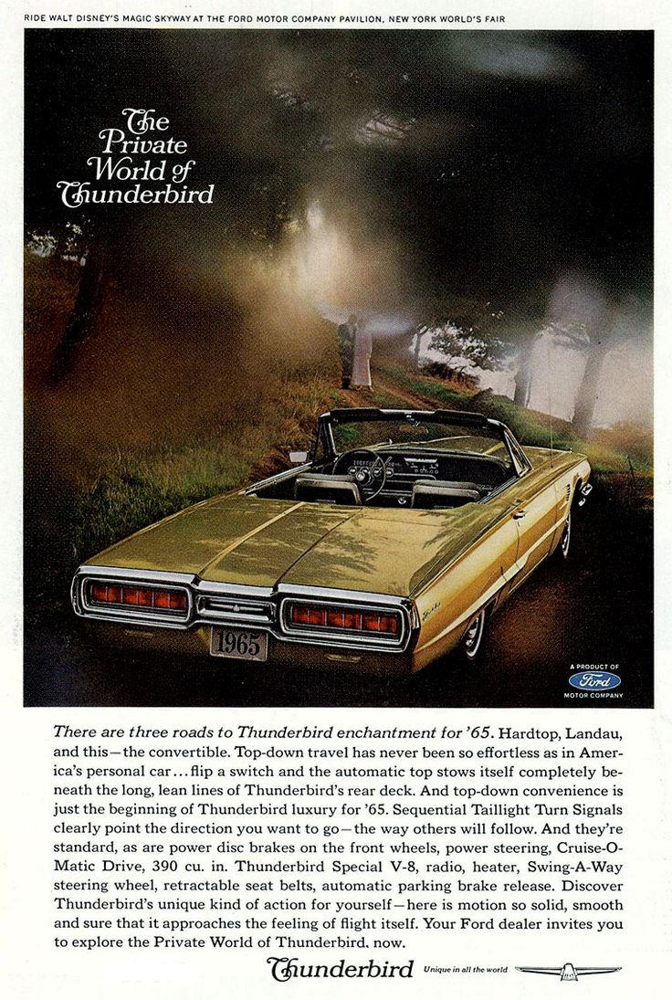 1965 ford thunderbird convertible ad