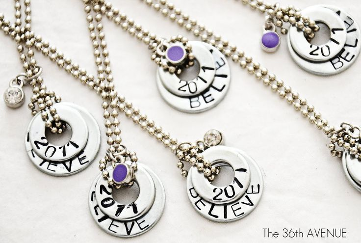 Washer necklaces (instead of stamps use sharpies and bake