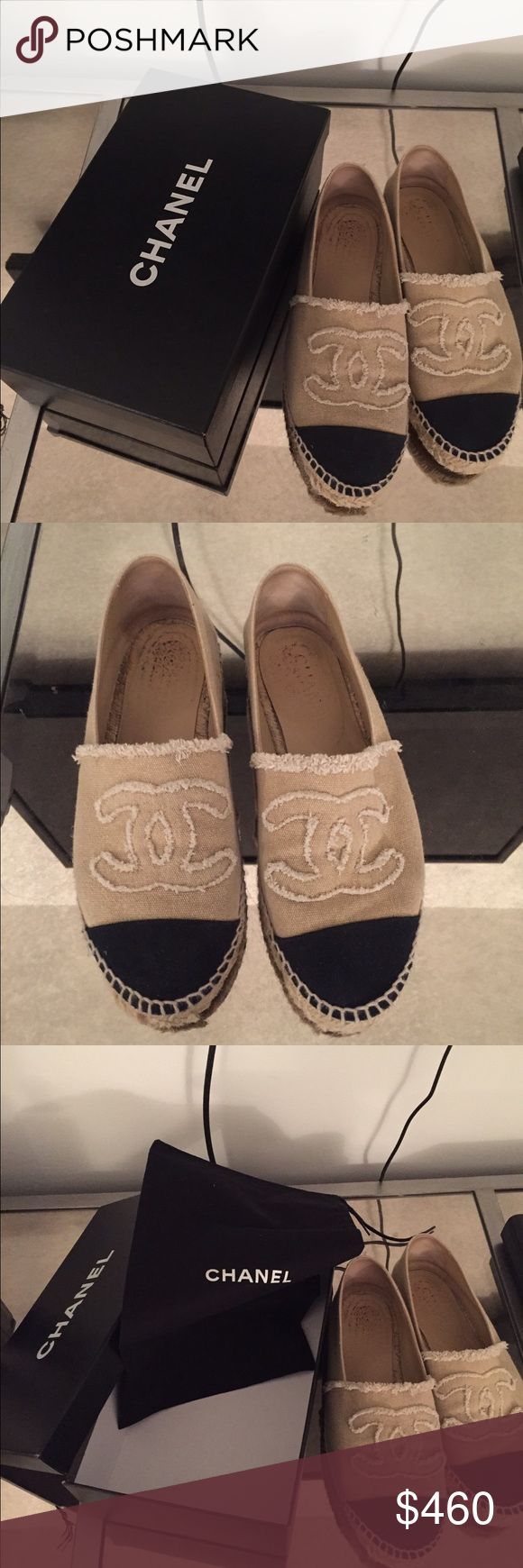 Chanel Espadrilles Authentic Chanel Espadrilles. I have box and dust bag. Size 8 CHANEL Shoes Espadrilles