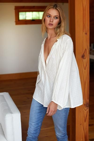 5ef084d98a7c7 Bardot Top - Ivory Dots in 2019