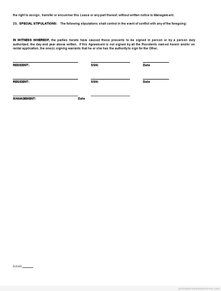Sample Printable standard real estate lease agreement buying Form