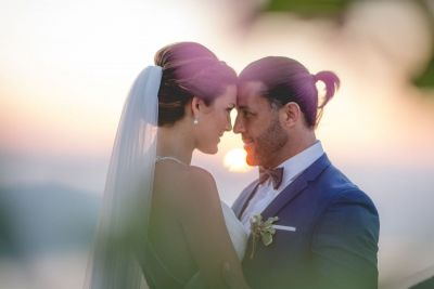Mr & Mrs portrait from real weddings in Santorini Greece.  see more... http://photographergreece.com/en/photography/wedding-stories/719-australian-wedding-in-santorini