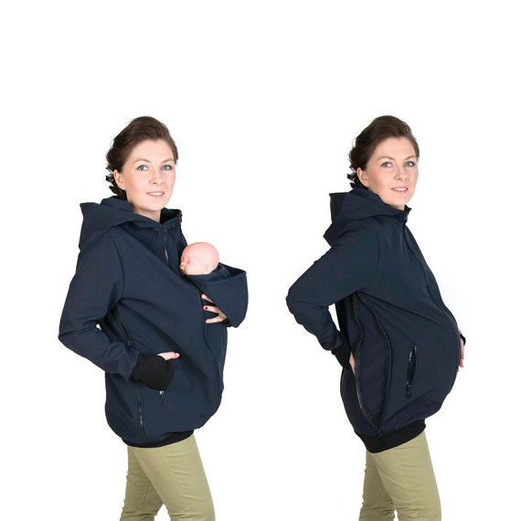 Softshell Babywearing jacket maternity coat carrier by fun2BEmum