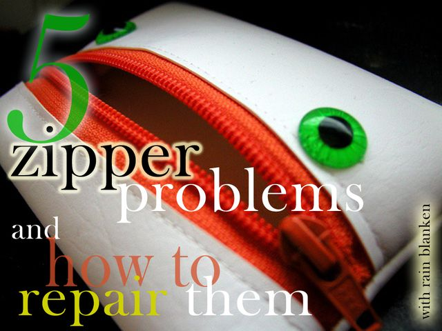 How to repair a broken zipper. Fix a broken or stuck zipper with these easy instructions.