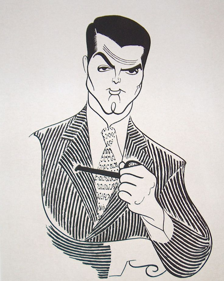 Cary Grant by illustrator Al Hirschfeld…he amazes me.