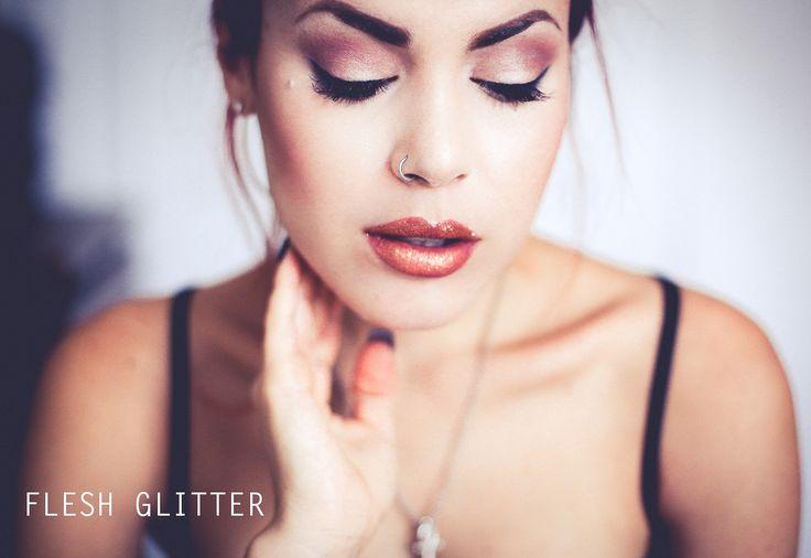 Pat  McGrath Lust 004 lipstick kit in flesh glitter
