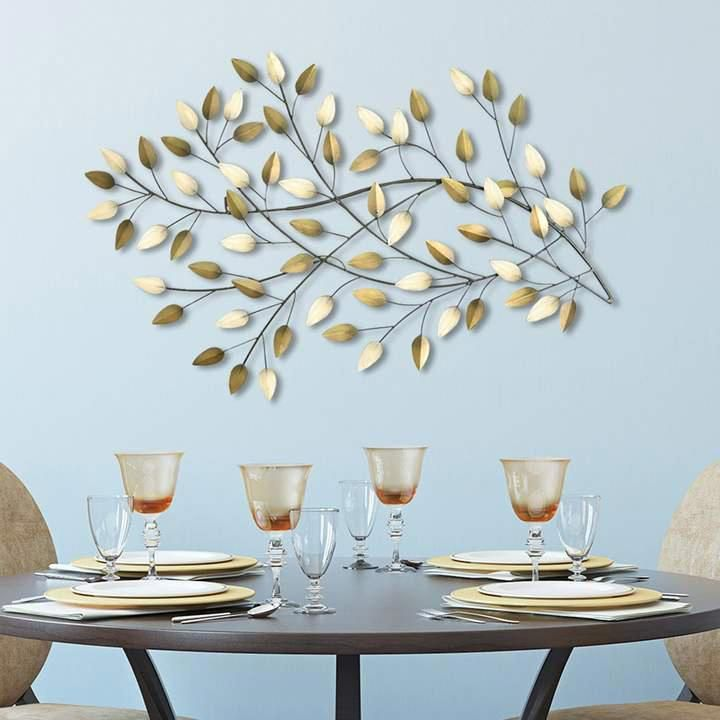 Stratton Home Decor Blowing Leaves Metal Wall Art In 2020 Metal Tree Wall Art Metal Tree Tree Wall Art Diy