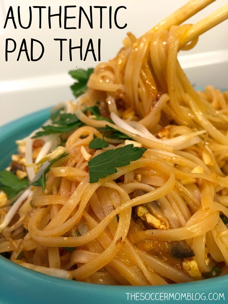 //An easy and authentic Pad Thai noodle recipe to make your favorite take-out dish at home. #food