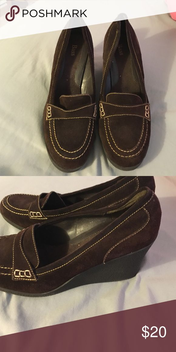 ‼️ must go‼️ Brown Wedge loafers Size 11 brown wedge loafers from bass Bass Shoes Flats & Loafers