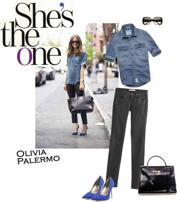 Olivia palermo denim quot by beckyschneids liked on polyvore