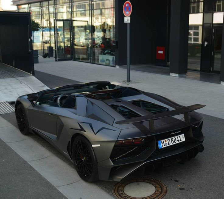 Lamborghini Aventador Super Veloce Roadster painted in Grigio Titans Photo taken by: @gp_carspotters on Instagram
