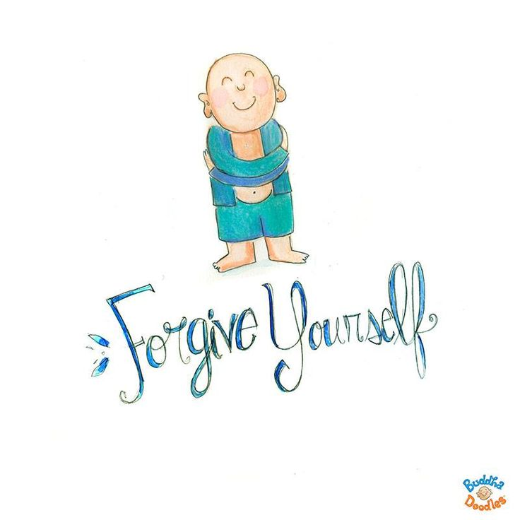 """Forgive yourself."" #buddhadoodles #forgiveness #love #happiness"