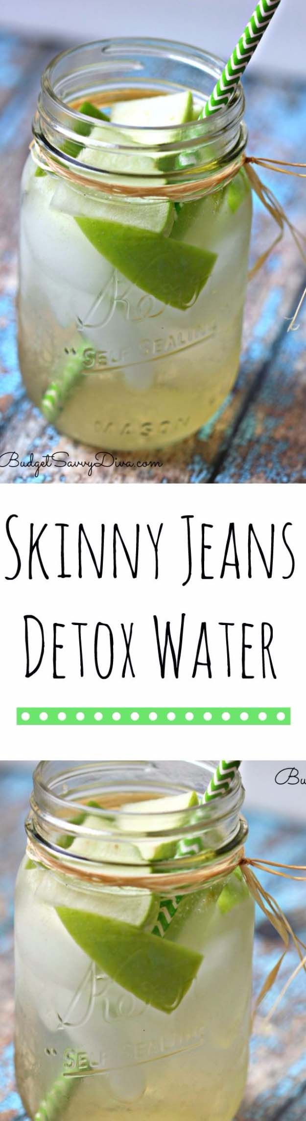 31 Detox Water Recipes for Drinks To Cleanse Skin and Body.  Easy to Make Waters and Tea Promote Health, Diet and Support Weight loss | Skinny Jeans Detox Water Recipe To Lose Weight http://diyjoy.com/diy-detox-water-recipes