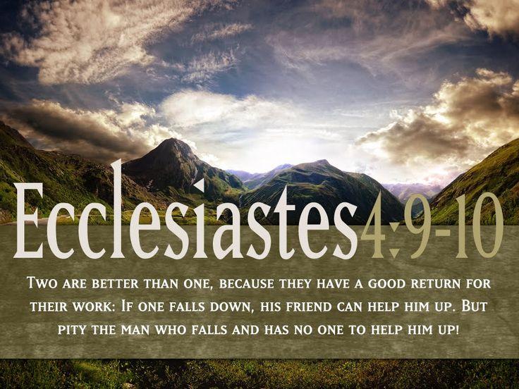 ecclesiastes 4 9-10   Ecclesiastes 4 9-12