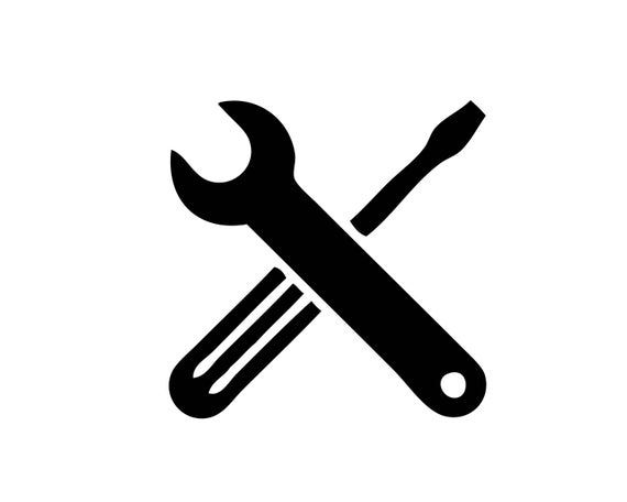 Wrench And Screwdriver Screw Driver Crossed Cross Tools Logo Etsy In 2021 Tool Logo Logo Sign Photoshop Backgrounds