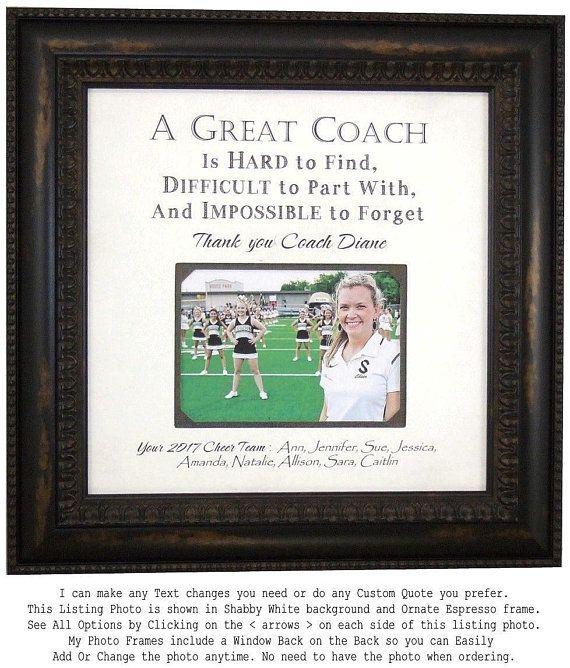 Cheer Team Coach Gift For Cheerleading Coaches Handmade Cheerleading Coach Gifts From Photoframeoriginals Photo Frames And Mats Cheer Coach Gifts Coach Gifts Cheerleading Gifts