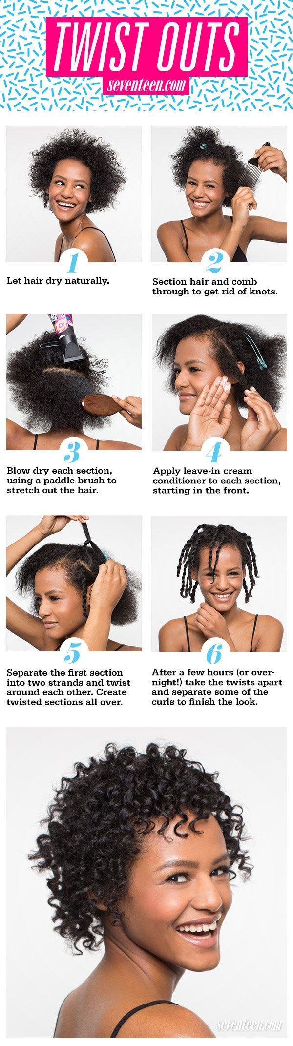 Two Strand Twist Outs Hair How To - Natural Hair Twist Outs Tutorial