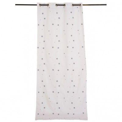 rideau chambre enfant etoiles grises 115 x 260 cm emma mouton rideaux - Rideau Chambre Bebe Etoile
