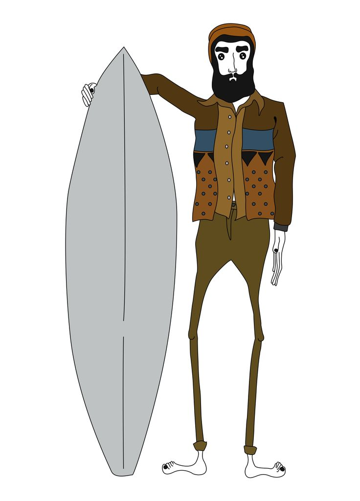 bearded man wearing a sweater and planning to surf.., personal designs Inspired by Australian's surf and skate crowd