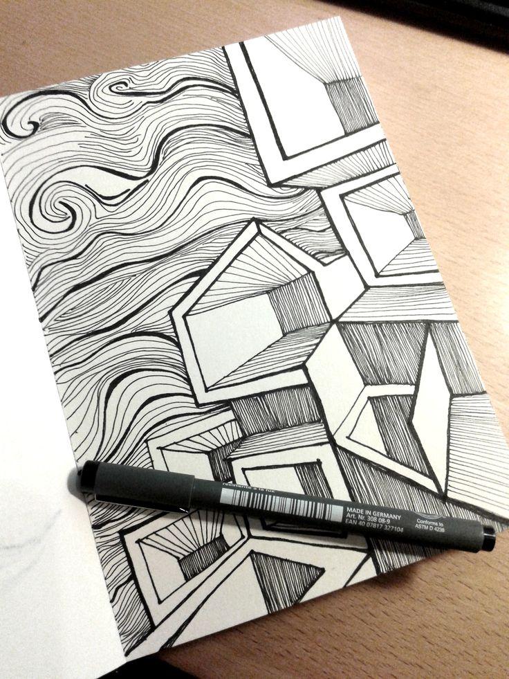 "Ink Sketch - ""Human Honeycombs"" - 2014"