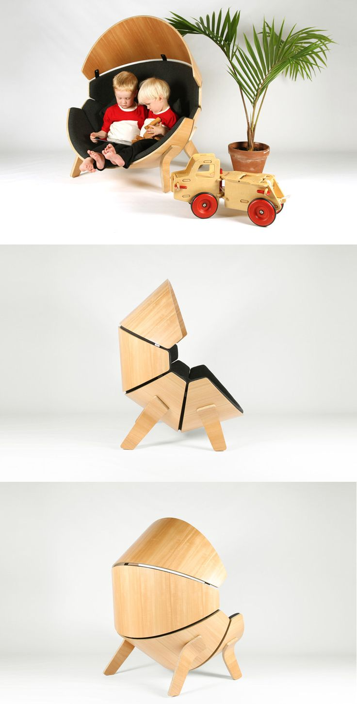A Chair Designed For Children To Have A Place To Get Away From The Noise