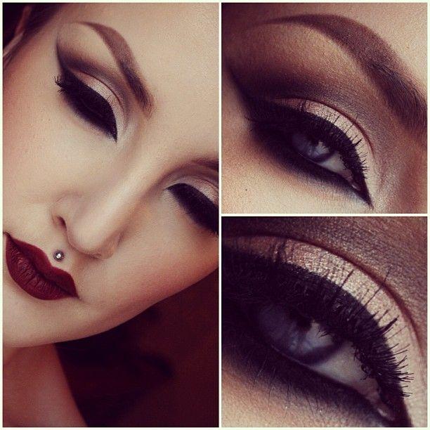 Mac sin lipstick nude golden smoked out cut crease make - Mac cosmetics lipstick diva ...