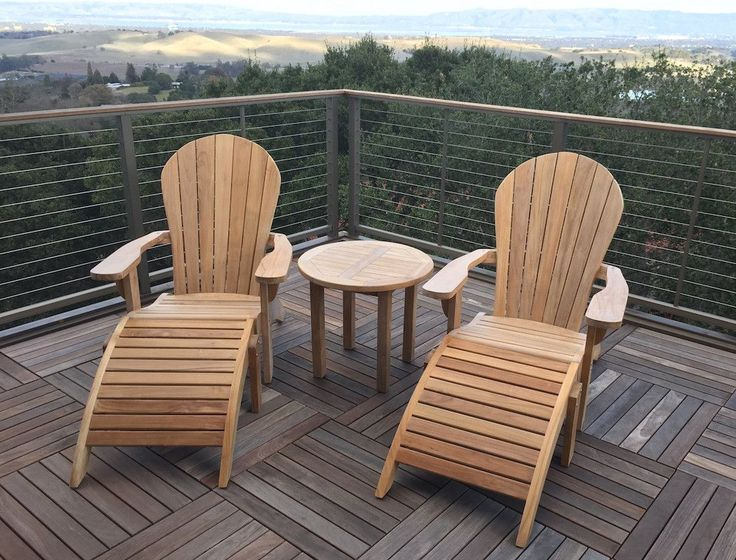 Teak Adirondack Chair Set | Classic Teak