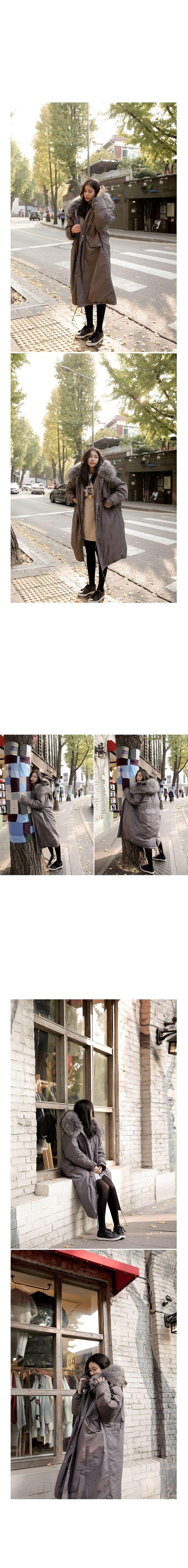 Реальная съемка 2017 новый капюшоном большой шерсть воротник свободные длинные рукавами шнурок талии в длинный абзац хлопка куртки 12110купить в магазине Korean Trendy StoreнаAliExpress