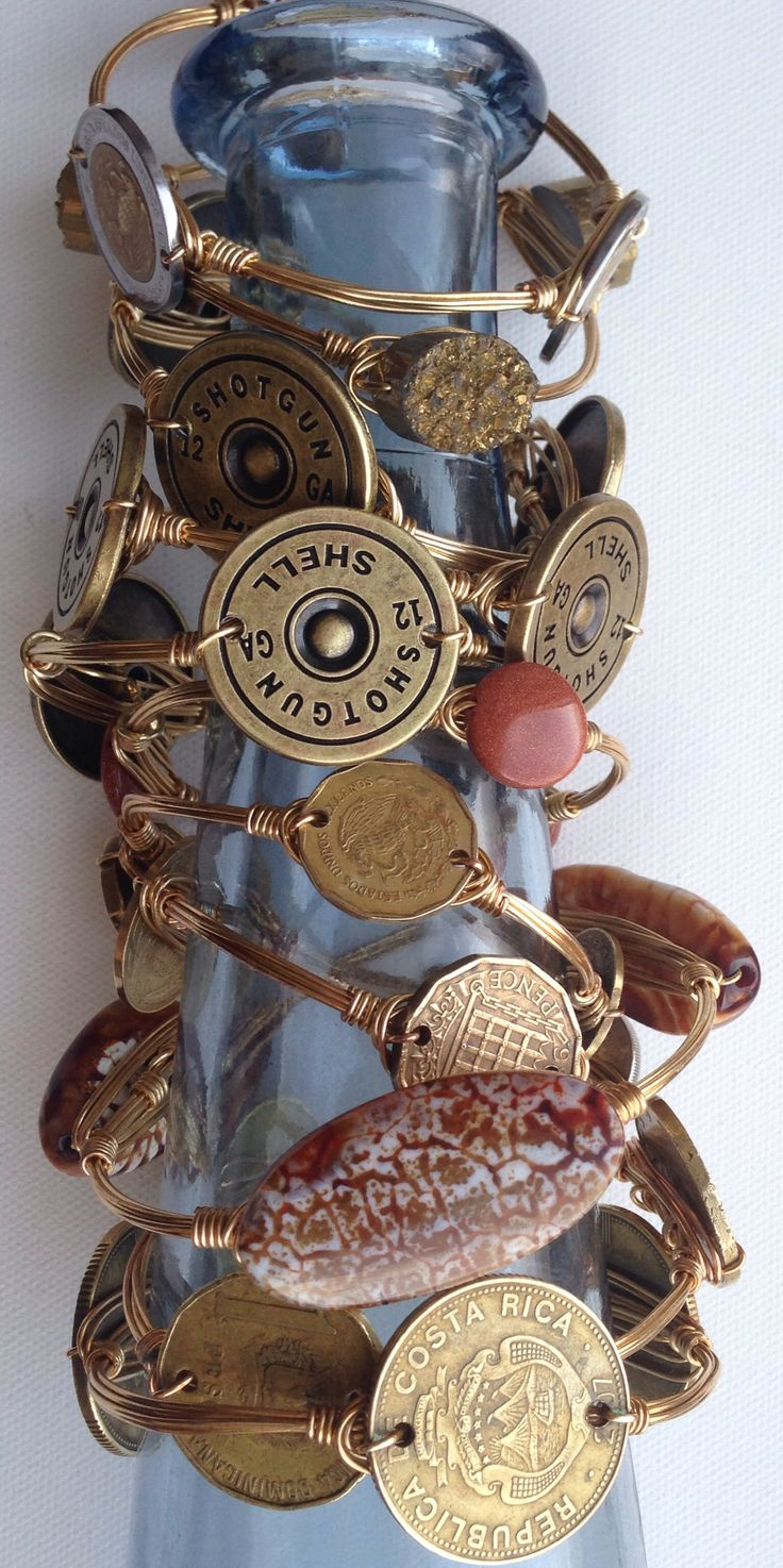Shotgun shell bangles from bourbon and boweties. #doyoubangle #bourbonandboweties #bangles