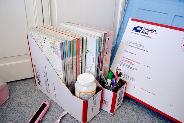 Boxes from the post office are perfect for this. | 37 Insanely Smart School Teacher Hacks