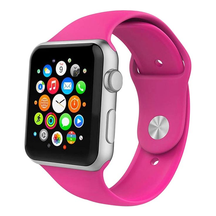 iPM Soft Silicone Replacement Sports Band For Apple Watch 38mm - Hot Pink, Adult Unisex