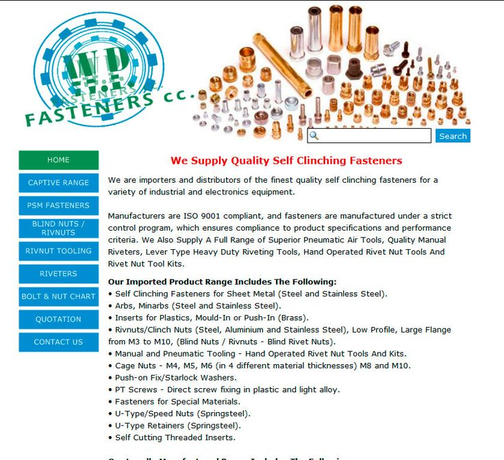 Website Design By DRAGAN GRAFIX - WP FASTENERS We are importers and distributors of the finest quality self clinching fasteners, for a variety of Industrial and Electronics equipment. http://www.wpfasteners.co.za