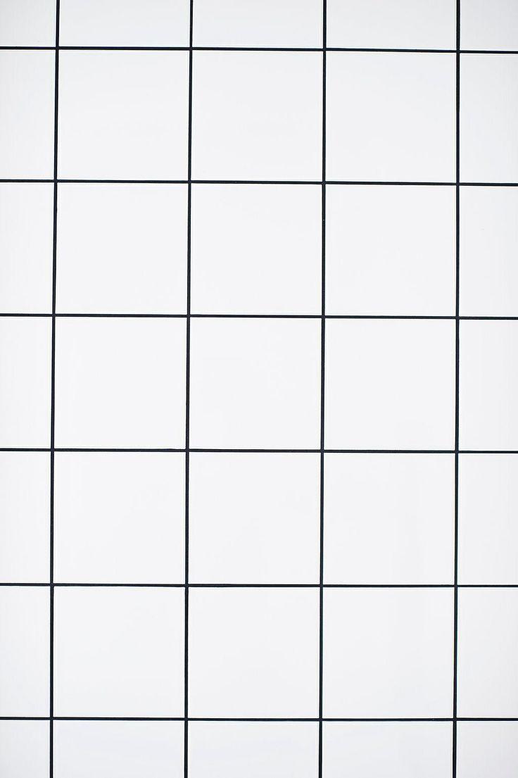 Impressionnant Texture Carrelage Blanc #7: Carrelage 15/15 Blanc U0026 Joints Noirs