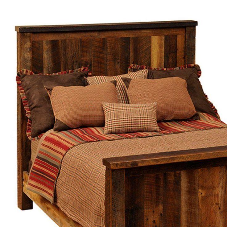 Fireside Lodge Barnwood Traditional Panel Bed