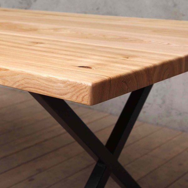 Amazing Bridge Solid Ash Dining Table With X Shaped Legs Ash Download Free Architecture Designs Rallybritishbridgeorg