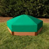 Frame It All Two Inch Series Hexagon Sandbox with Collapsible Cover